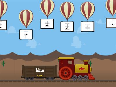Balloon Line & Space Game