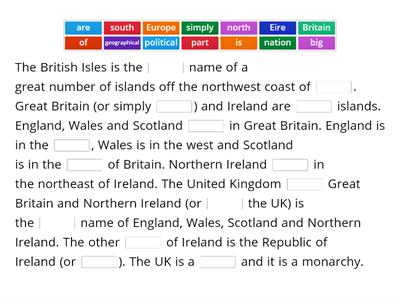 The British Isles, the UK, etc