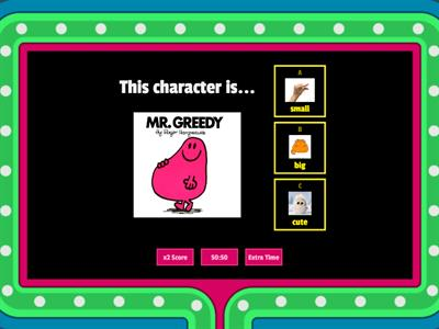 Characters and adjectives