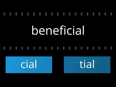 cial or tial words
