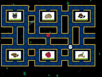 Fruit, veggies & nuts maze