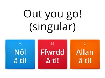 Single and Plural Commands in Welsh