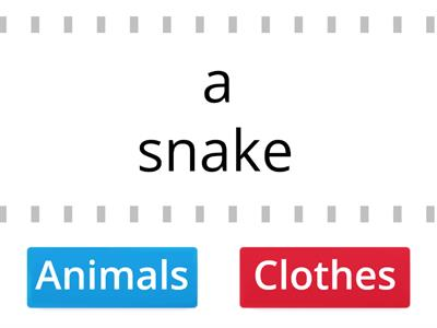 Animals or Clothes