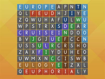 Long u words: eu, ew, ui (There are 12 words total)