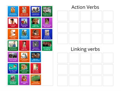Action verbs or linking verbs