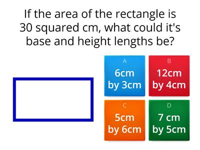 Area of Rectangles/Parallelograms