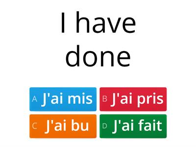 French Past Tense/Future
