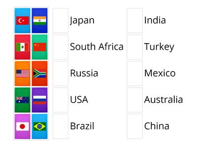 Flag and countries - YS3 unit 9A