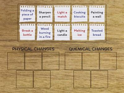 PHYSICAL OR QUEMICAL CHANGES