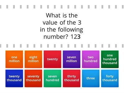 4 NBT4A- Place Value Match