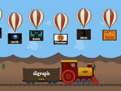 Balloon Pop with Digraph th