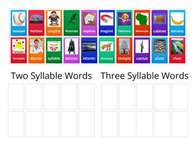 Syllable Sort!