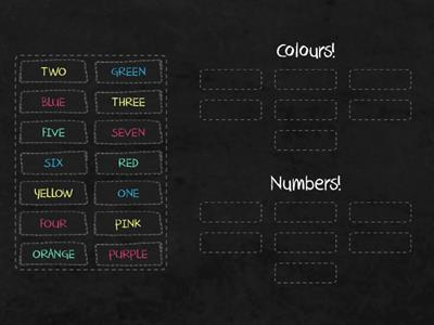 NUMBERS AND COLOURS!
