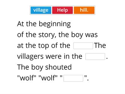 The boy who cried wolf Activity 2
