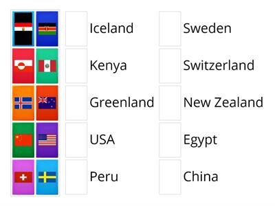 Countries and Flags- Game 1