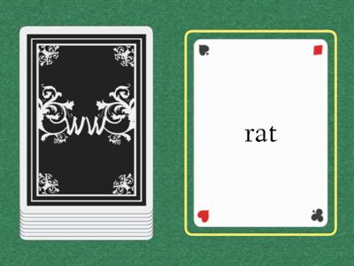 -at Word Family Card Deck
