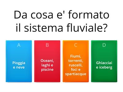 QUIZ - Torrenti e fiumi