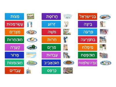 Passover vocabulary game 5