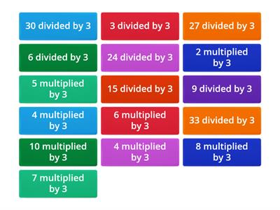 Multiply & division by 3