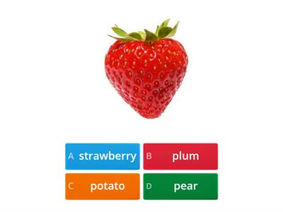FRUIT AND VEGETABLES revision