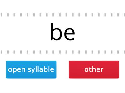 Open syllable identification