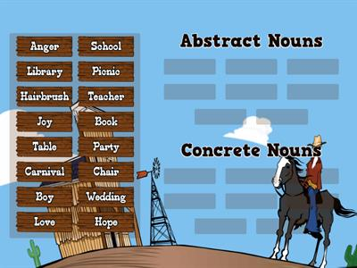 Concrete and Abstract Nouns