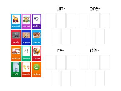Letterland Unit 26 Prefixes un-, pre-, re-, dis-