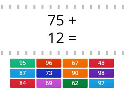 Addition 2 digit numbers