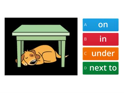 Kid's Box Prepositions of place (unit 3)