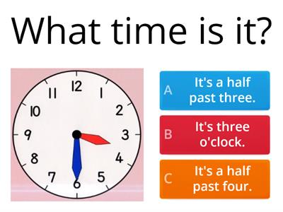 What time is it? - starters