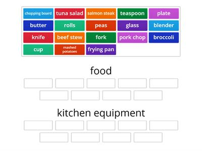 food and kitchen equipment