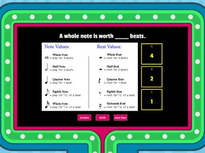 Copy of Music Word Wall - Rhythms