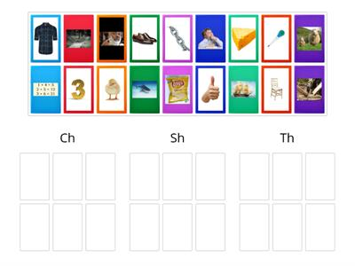 Picture Sort for Ch, Sh, and Th