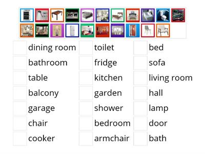 English in Mind Starter rooms and furniture