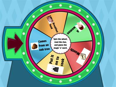 Magic Vowel 'a' Spin the Wheel