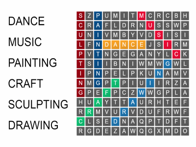 Wordsearch Creativity and Creative Learning