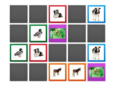 Animals. Memory game