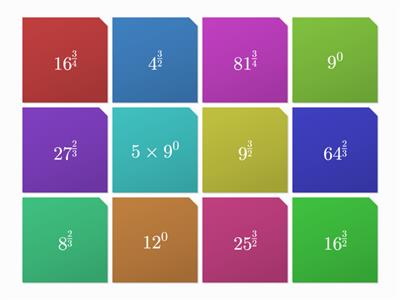 Fraction Powers Maths Tiles