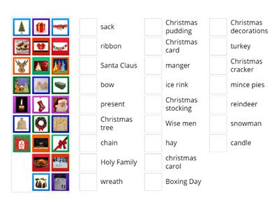 Christmas Vocabulary klasa 5