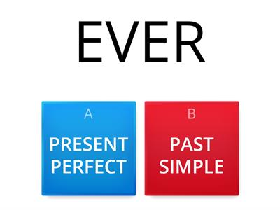 present perfect / past simple