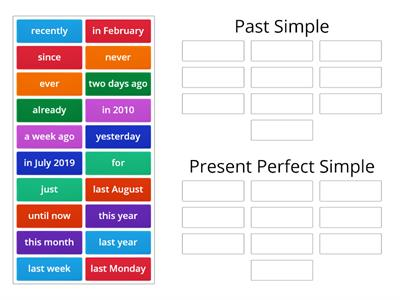 Past Simple and Present Perfect Time Expressions