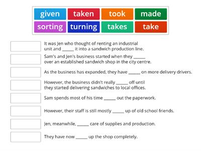 B2 - phrasal verbs by theme 2 - a small company
