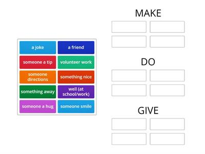 Collocations with make/ do/ give