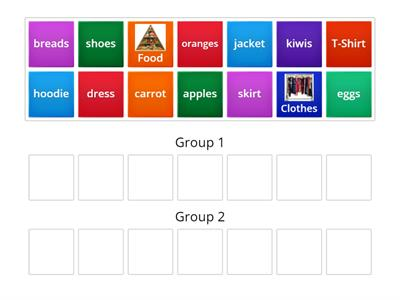 Grouping Food and Clothes