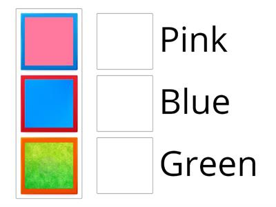 match the colors with the pictures