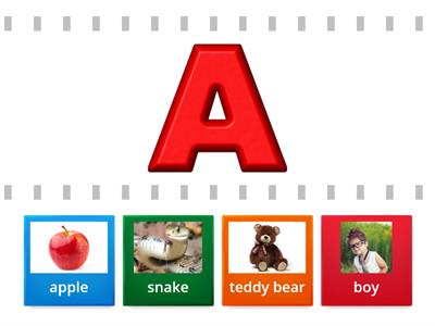 Letters A,B,T,S