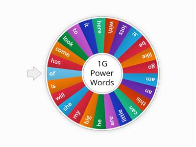 1G Power Words
