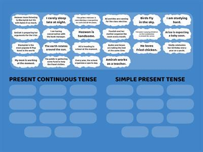 Copy of SIMPLE PRESENT TENSE VS PRESENT CONTINUOUS TENSE