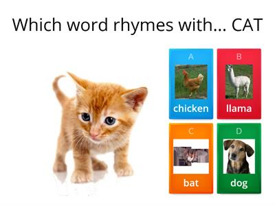 Basic rhyming game - year one ish