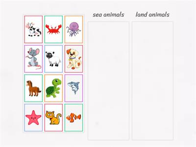 Sea/Land animals (5-7)